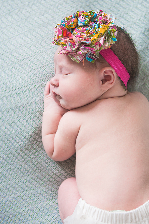 Newborn Girl with a bow