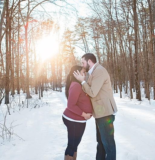 Happy expectant couple