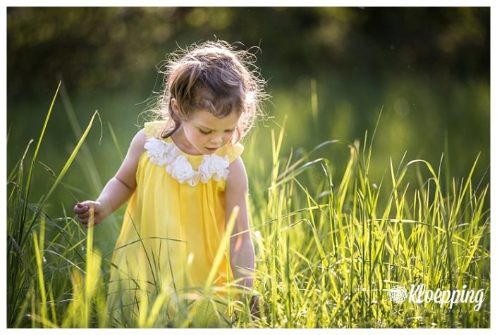 My Buttercup in the Grass | Aldie Child Photographer