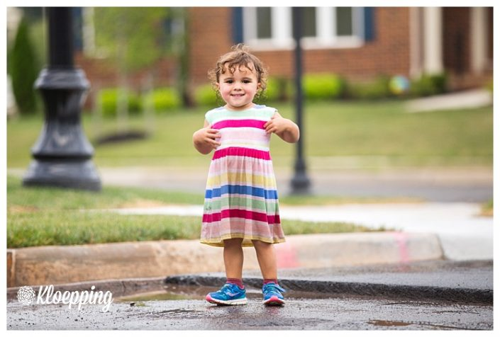 Puddle Jumping | Aldie Child Photographer