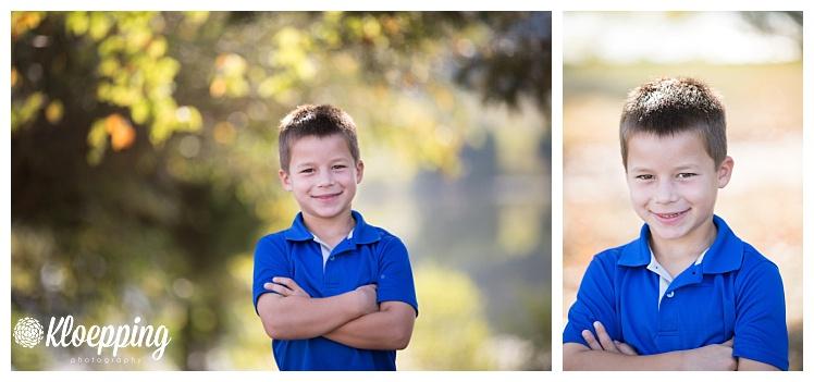 handsome boy in blue